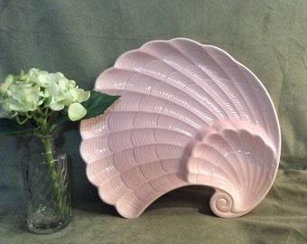 Shafford Pink Shell Tray, Pink Shell Chip and Dip, Pink Shell Bureau Tray, Shafford Japan
