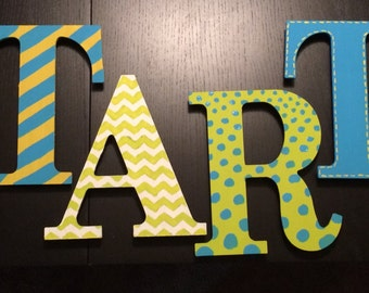 Custom Hand-Painted Wood Letters