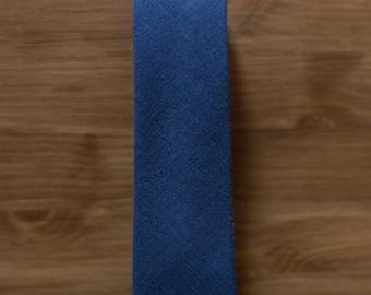 men's necktie - navy tan colour block