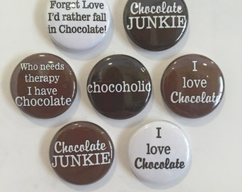 Chocolate Lover, Chocoholic Magnets - set of 7