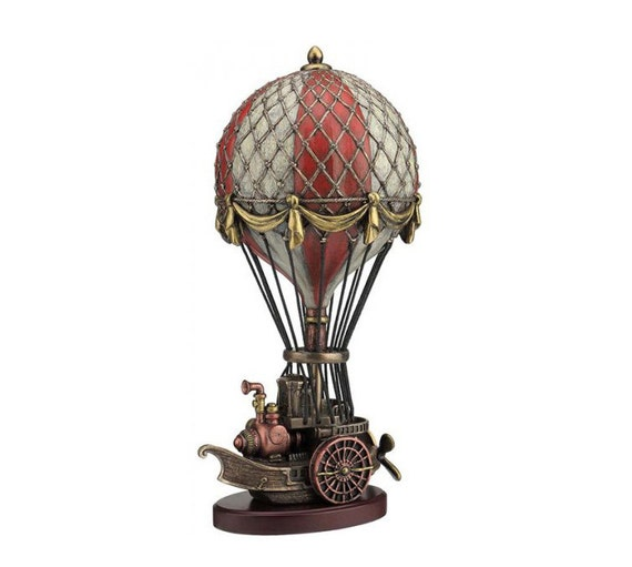 Hot air balloon steampunk flying machine airship by decoexpert for Balloon decoration machine