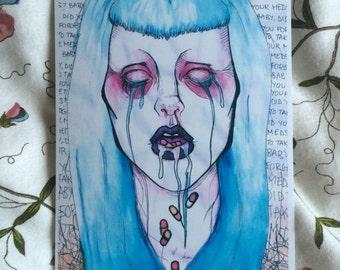 A4 Meds Art Print