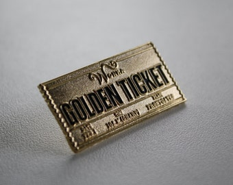 The Golden Ticket Lapel Pin