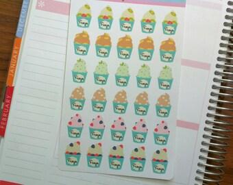 30 Frozen Yogurt Stickers