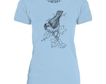 Mintage Little Birdie  Womens Fine Jersey T-Shirt
