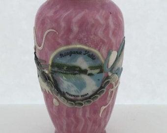 Vintage Niagara Falls Souvenir//Moriage Dragonware Vase//Prospect Point Souvenir//Mini Vase Collectible//New York Souvenir