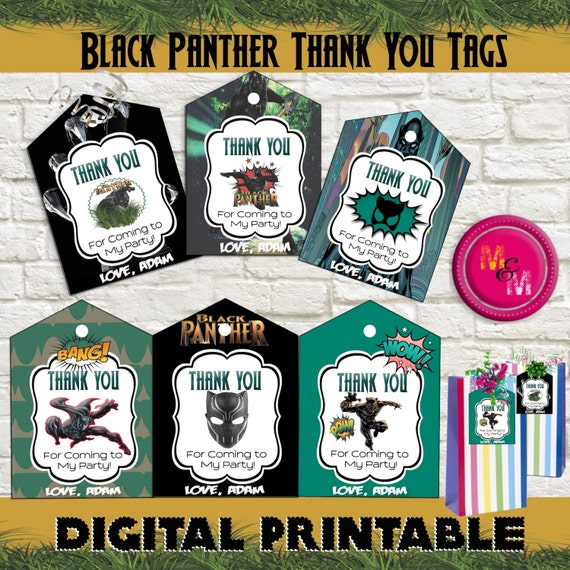 Download Lagu Thankyou Next: Black Panther Party Thank You Favor Tags Printable