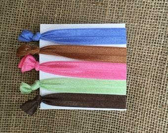Elastic hair ties, ponytail holders, stretchy ribbon hair ties, elastic hair accessories
