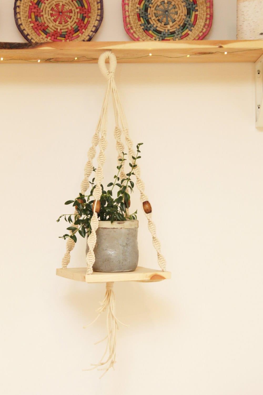 Sale Hanging Shelf Macrame Macrame Plant Hanger With Wooden