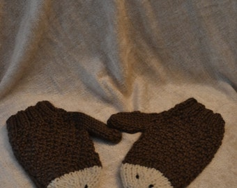 Knitting Pattern Hedgehog Mittens : Hedgehog mittens Etsy