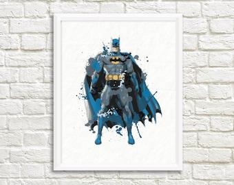Batman Wall Art ,Printable Art, Inspirational Quote, Typography Art, Digital Prints,Wall Art Prints, Digital Download
