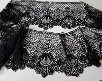 Wide wheel of silk guipure lace bobbin of le Puy 19th ref 12067