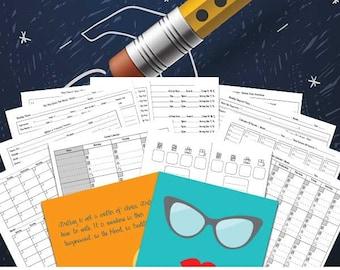 Blog Planner | Blogging Planner Includes Editorial Calendar, Inspirations, Blog Post Planner, Printable Blog Planner, Blog Organizer