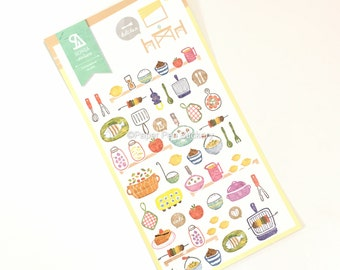 Kawaii Planner Sticker, Korean Japanese Sticker, Dinner Meal Food Party Planner Decoration Stationery Planning Supply, Decorative Sticker