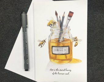Norfolk Honey Greeting Card