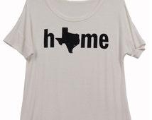 Texas Graphic State Tee - Home, Texan, Texas State, Texas Pride - Free Shipping
