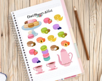 SALE | Macarons And Tea Planner Stickers (S-087)