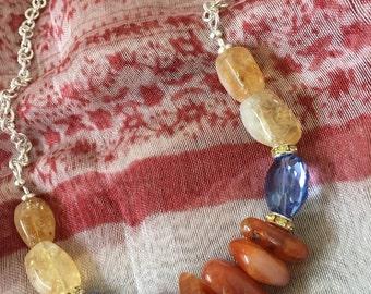 Citrine, Carnelian and Crystal