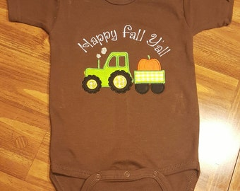 Country Baby bodysuit - Fall Country Baby - Tractor