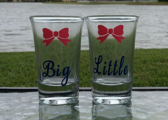 big and little shot glasses set sorority shot glasses big. Black Bedroom Furniture Sets. Home Design Ideas