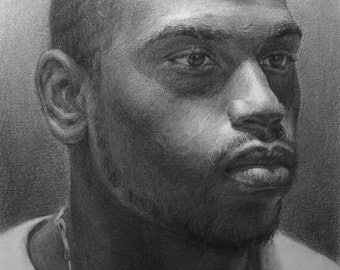 "12""x16""Custom Portrait Charcoal/Graphite Drawing"