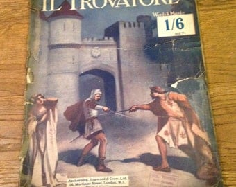 Vintage Music Lovers Library No. 6 Il Trovatore by Giuseppe Verdi. Musical Opera Score. Good condition.