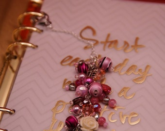 Valentine's Day Pink & Red Planner Charm with Love heart