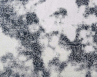 """50"""" Wide Paisley Print Cotton Fabric Dressmaking Material Apparel Fabric For Sewing Crafting Indian Pure Cotton Fabric By 1 Yard ZBC7948A"""
