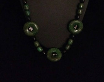 CLEARANCE* Green Copper Jasper Necklace