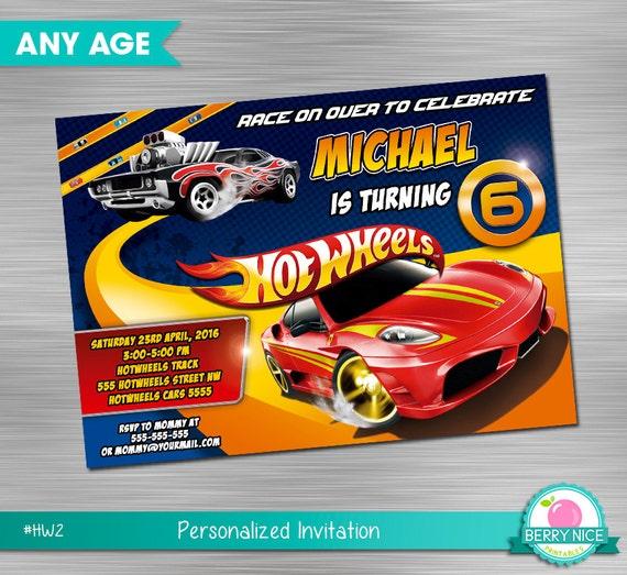 Hot Wheels Invitation DIY Hot WheelsHot By Berryniceprintables