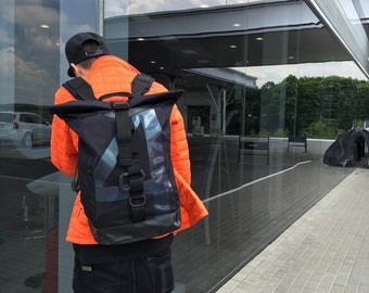 Hologram Backpack, Rolltop Backpack, Laptop Backpack, Backpack Men, Waterproof Backpack, Black Backpack, Canvas Rucksack, Mens Backpack