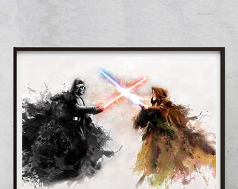 Star Wars canvas art ? No, poster art painting print illustration /