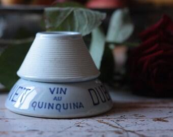 French Vintage Ceramic Dubonnet Match Holder, or Match Striker