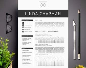 professional resume template cv template cover letter creative and modern resume teacher resume word resume instant download