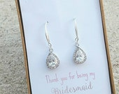 Bridesmaids Gifts,Bridesmaids Earrings,Wedding Jewelry,Rustic wedding,will you be my bridesmaid,Tie The Knot,Personalized Bridesmaid gifts