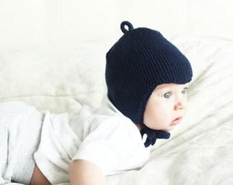 Newborn hat - Merino wool hat - Knit baby hat - Toddler hat - Earflap hat - Baby shower - Hand knit hat - Kids hat - Knitted hat baby