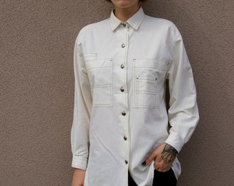 Vintage Oversize Shirt in Off White