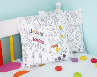 Cushion cover - Jesus Loves Me