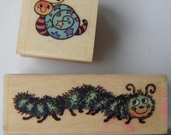 Caterpillar and snail rubberstamps from PSX