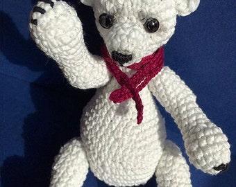 Amigurumi crohet mini polar bear