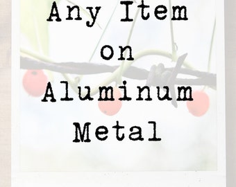 Aluminum Wall Art, Metal Print, Modern Home Decor, Ready to Hang, Polaroid-Type, Metal Photograph, Picture on Metal