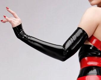 Diva Latex Arm Gauntlets