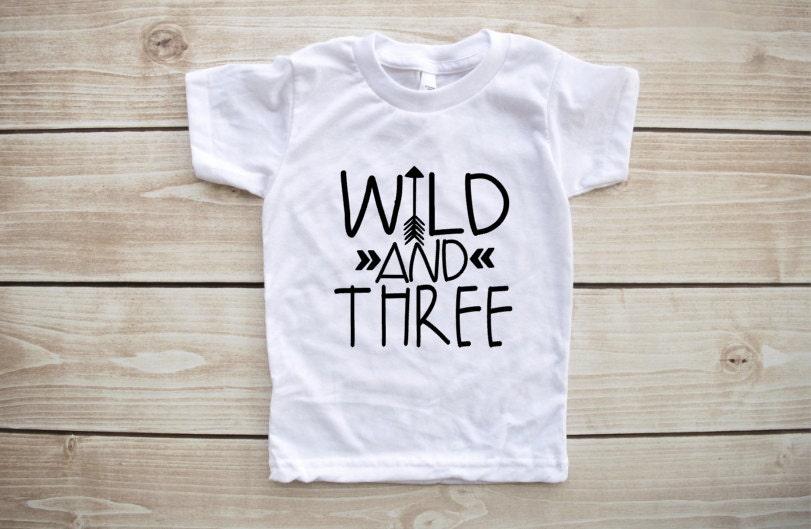 Wild And Three Third Birthday Shirt Outfit