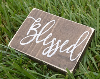 Blessed Mini Wood Sign