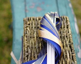 150 Wedding Ribbon Wands - Satin, Glitter & Organza Ribbon / Wedding Ceremony Wands / 3-Strand Ribbon Wands / Wedding Wands / Wedding Exit