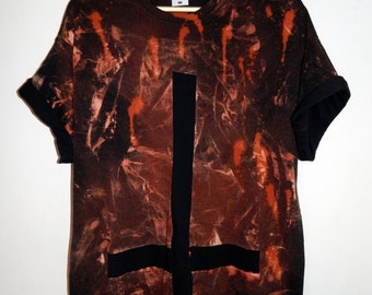 Tie Dye T-Shirt acid wash T-shirt hipster grunge Retro 80s vintage 90s dip dye punk cross scrunch men women unisex Galaxy top