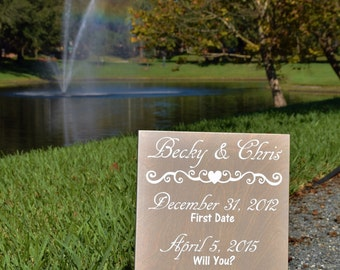 The Best Days of our Lives Wood Sign. Personalized Dates - Custom Made Wedding Anniversary Gift 12x18 Solid Wood, Hand Painted 1-sided.