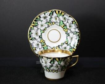 Vintage Chintz Rosina Tea Cup - Saucer England 4860