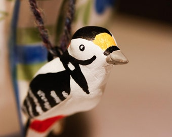 Great spotted woodpecker, hanging ornament