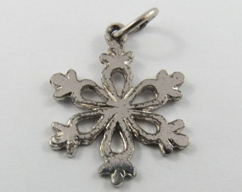 A Snowflake.No Two are Alike Silver Charm of Pendant.